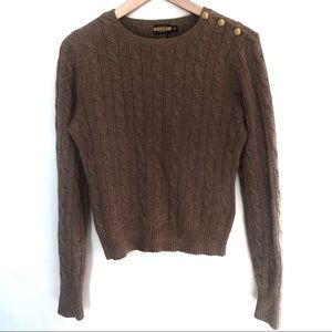 Rugby Ralph Lauren knit sweater with gold buttons